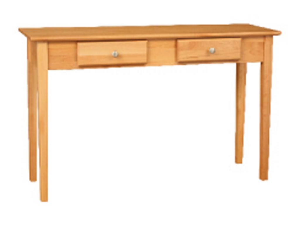 Archbold Furniture Alder ShakerSofa Table