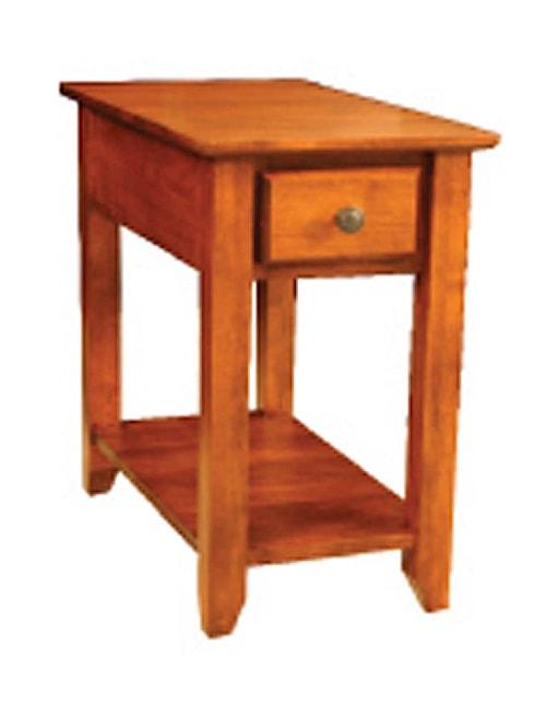 Archbold Furniture Alder Shaker 1 Drawer Chairside Table