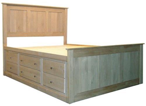 Archbold Furniture Alder ShakerKing Flat Panel Chest Bed
