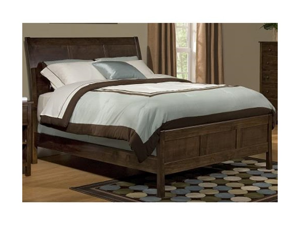 Archbold Furniture Alder ShakerFull Sleigh Bed