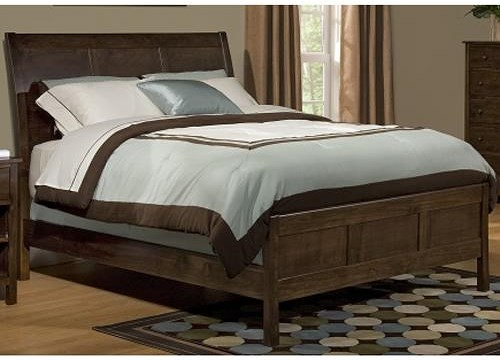 Archbold Furniture Alder Shaker Queen Sleigh Bed with Framing Details