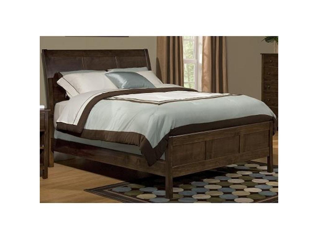 Archbold Furniture Alder ShakerKing Sleigh Bed
