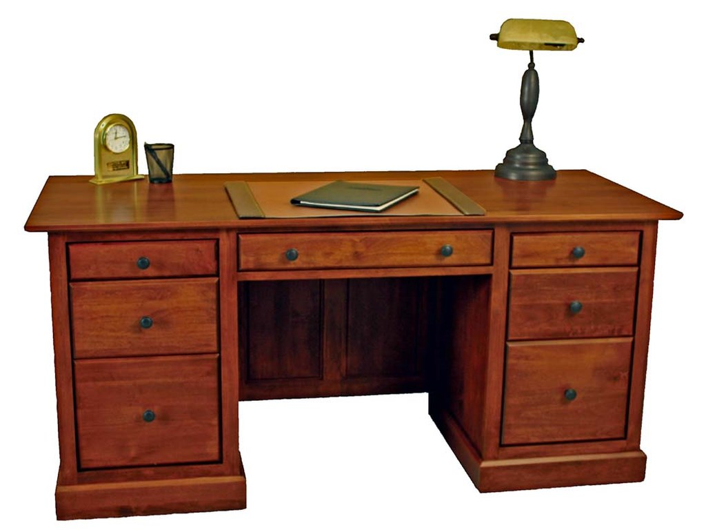 Archbold Furniture Alder ShakerExecutive Desk