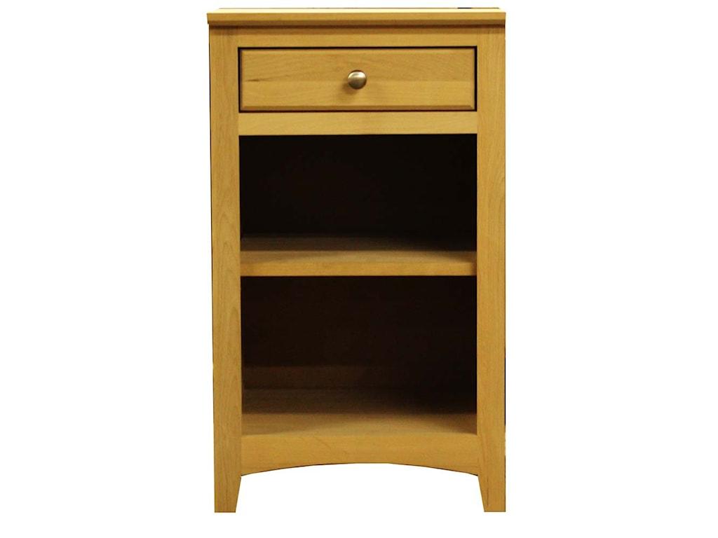 Archbold Furniture Alder ShakerUniversal Pedestal