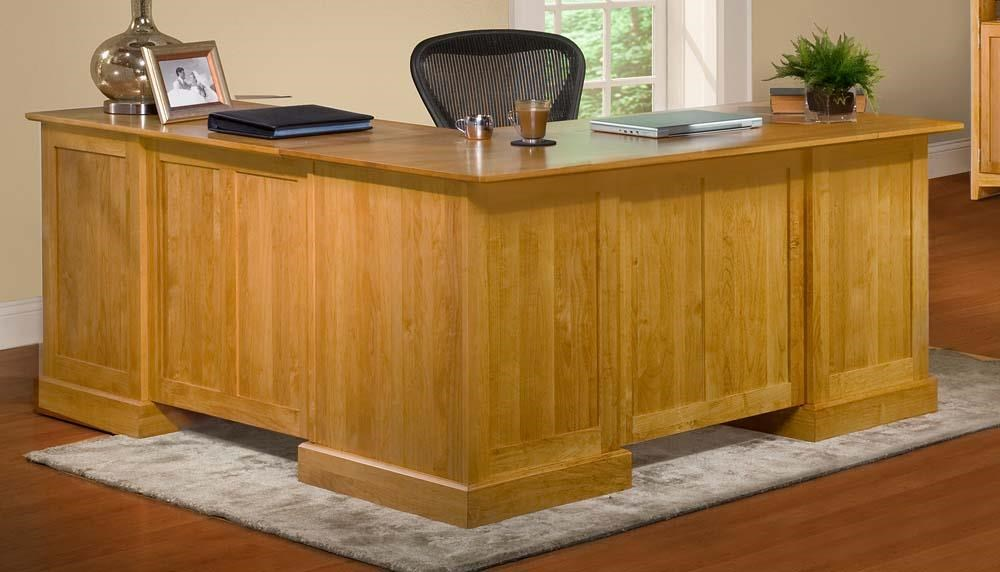 Archbold Furniture Alder ShakerL Shape Desk and Return