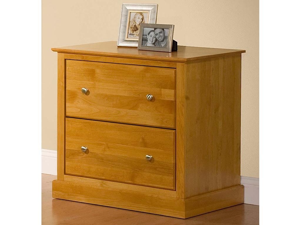 Archbold Furniture Alder ShakerLateral File