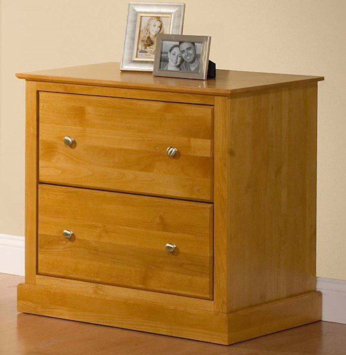 Archbold Furniture Alder Shaker 2 Drawer Lateral File