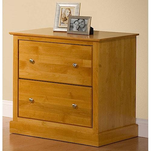 Archbold Furniture Alder Shaker 2 Drawer Lateral File
