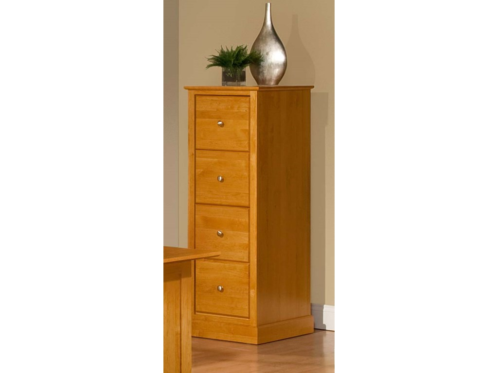 Archbold Furniture Alder Shaker4 Drawer File