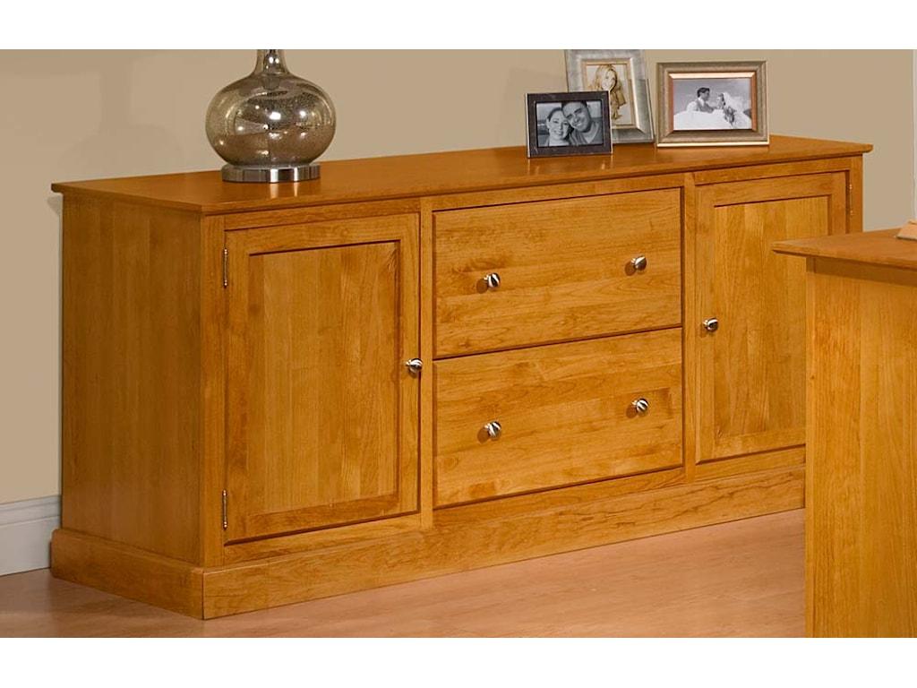 Archbold furniture alder shakercredenza