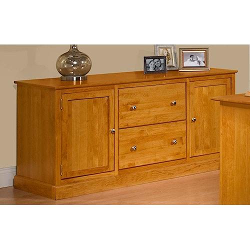 Archbold Furniture Alder Shaker American Made Credenza