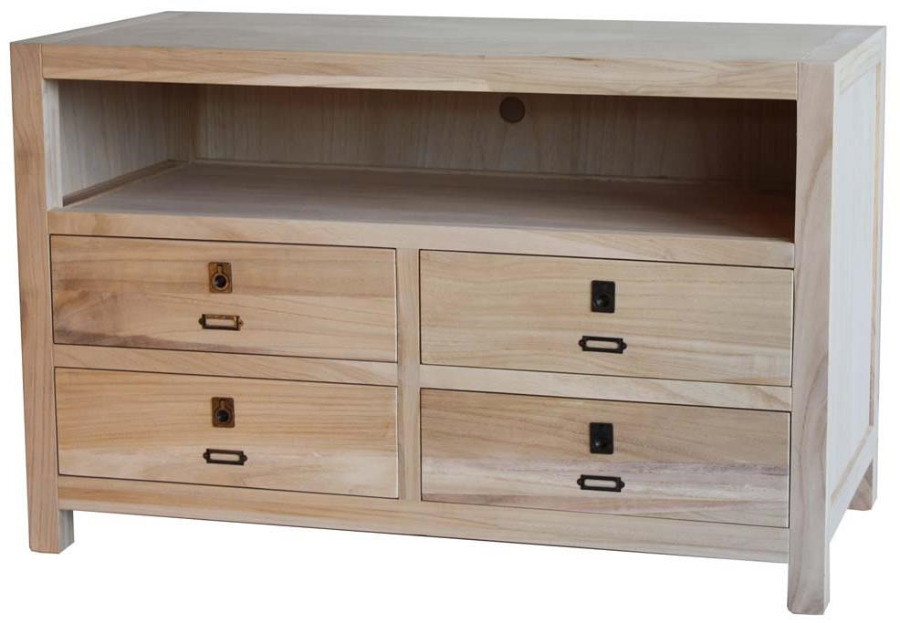 Archbold Furniture Allwood Accents Solid Wood  TV Stand with