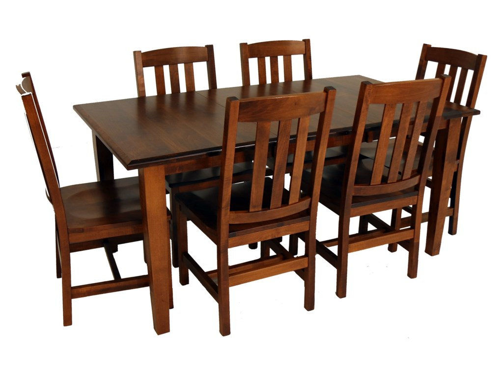 Archbold Furniture Amish Essentials7-Piece Dining Set