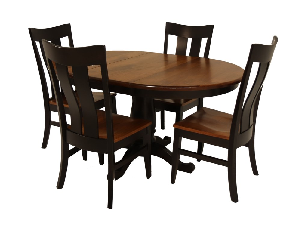 Archbold Furniture Amish Essentials5 Piece Rebecca Table and Florence Chair Set