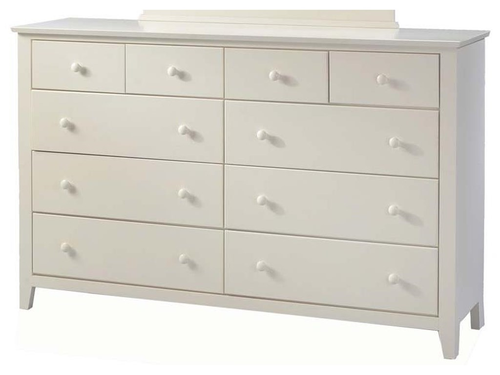 Attic treasures american made 10 drawer dresser by sarah randolph designs