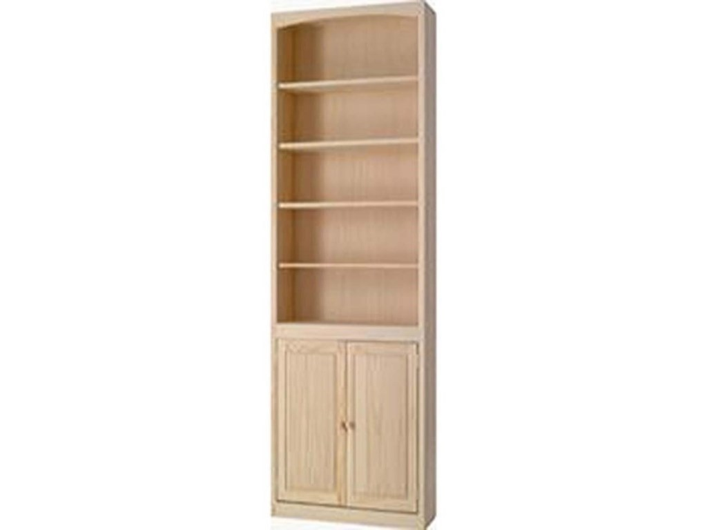 Archbold Furniture BookcasesPine Bookcase with Door Kit
