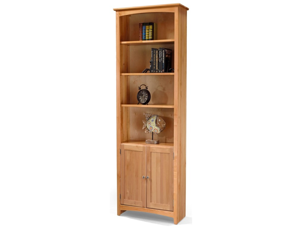 Archbold Furniture BookcasesAlder Bookcase with Doors