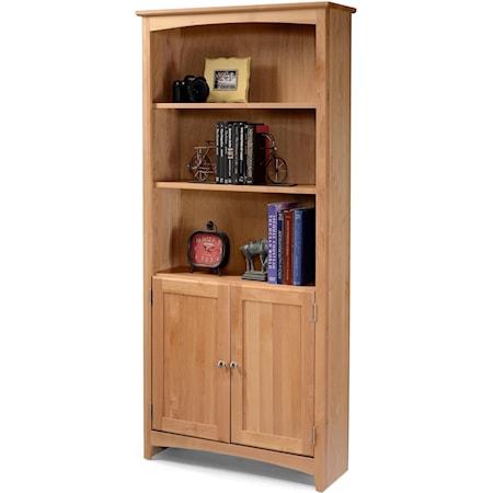 Alder Bookcase with Doors