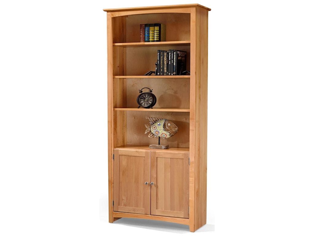 Archbold Furniture BookcasesAlder Bookcase with Doors