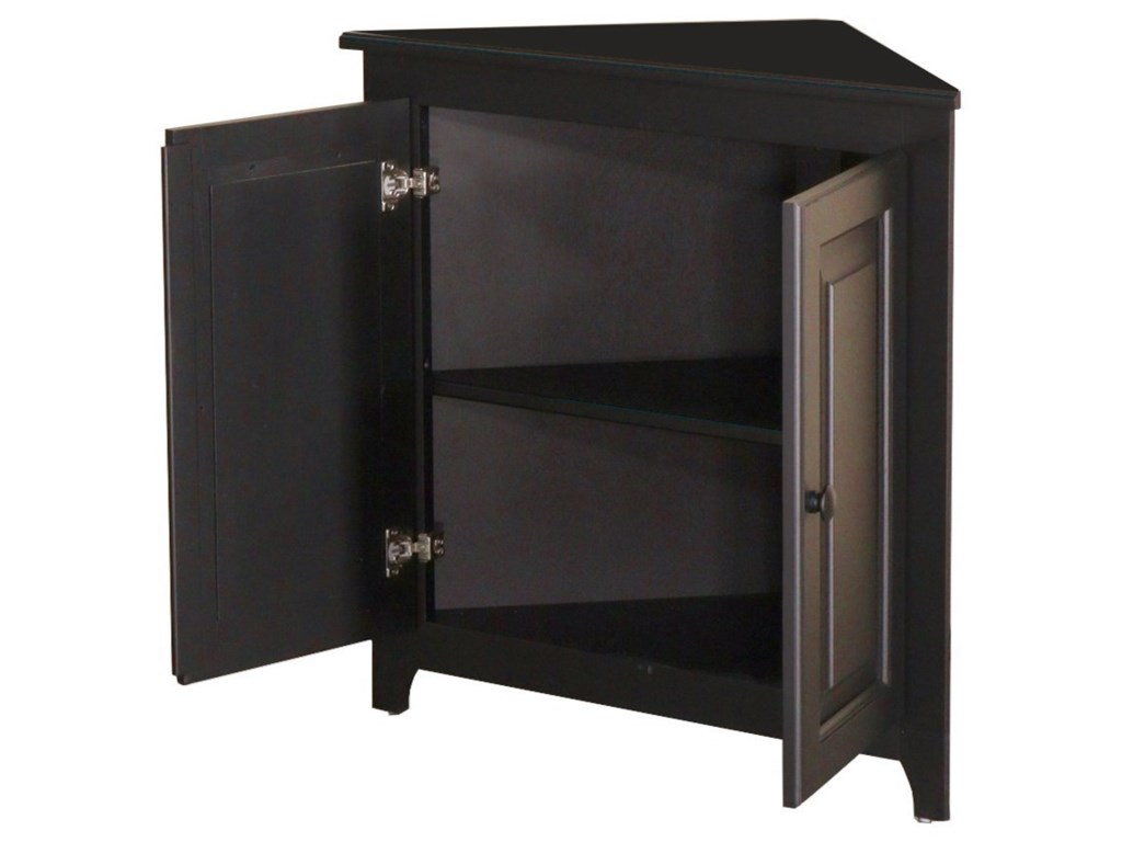 Archbold Furniture Pantries and CabinetsCorner Shelf with Doors