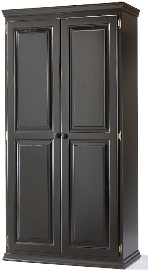 Archbold Furniture Pantries and Cabinets Pine 2 Door Pantry with 4 Adjustable Shelves
