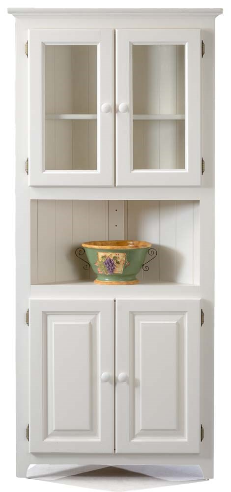 Archbold Furniture Pantries And Cabinets Corner Cabinet With 2 Adjustable Shelves Pilgrim