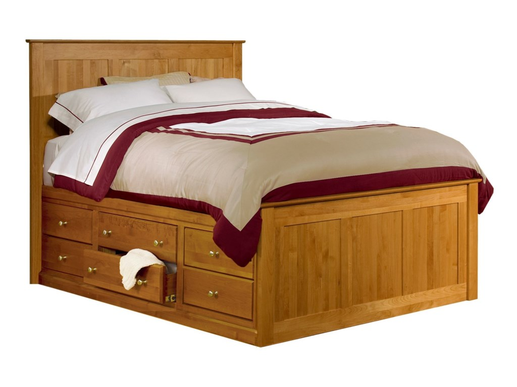 Archbold Furniture Alder Shaker Chest BedQueen Alder Shaker Chest Bed