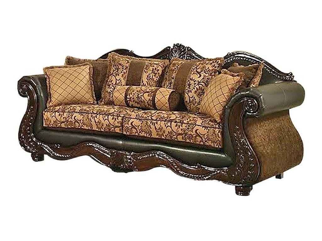 Del Sol Exclusive Eagletraditional Style Sofa