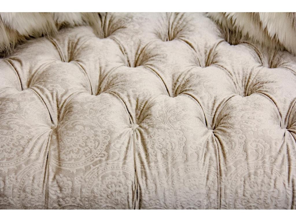 Aria Designs LorraineSand Paisley Tufted Chair