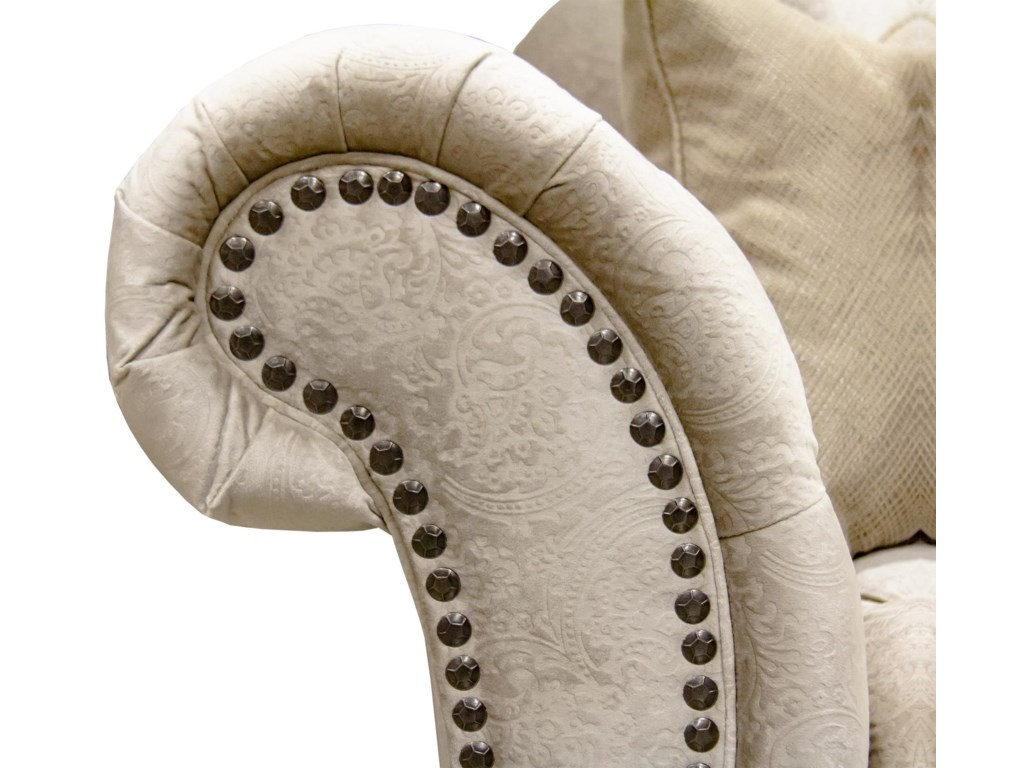 Aria Designs LorraineSand Paisley Tufted Loveseat