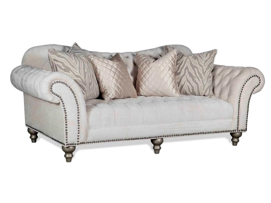 Lorraine Traditional Sofa with Nail Head Trim | Dream Home Furniture ...