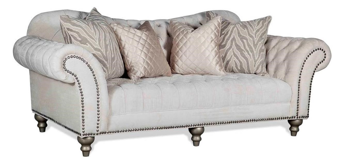 Lorraine Traditional Sofa With Nail Head Trim