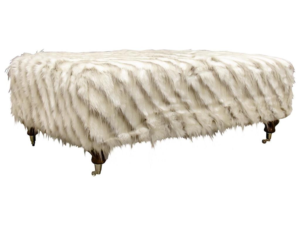 Aria Designs LorraineFur Ottoman