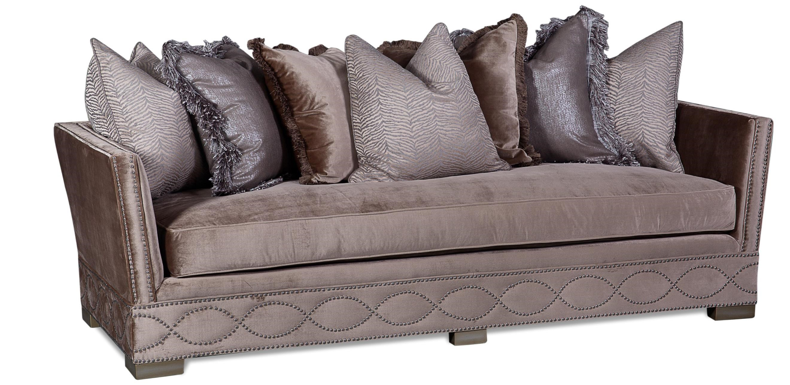 Marquesa Tuxedo Sofa With Loose Back Pillows And Bench Seat Cushion