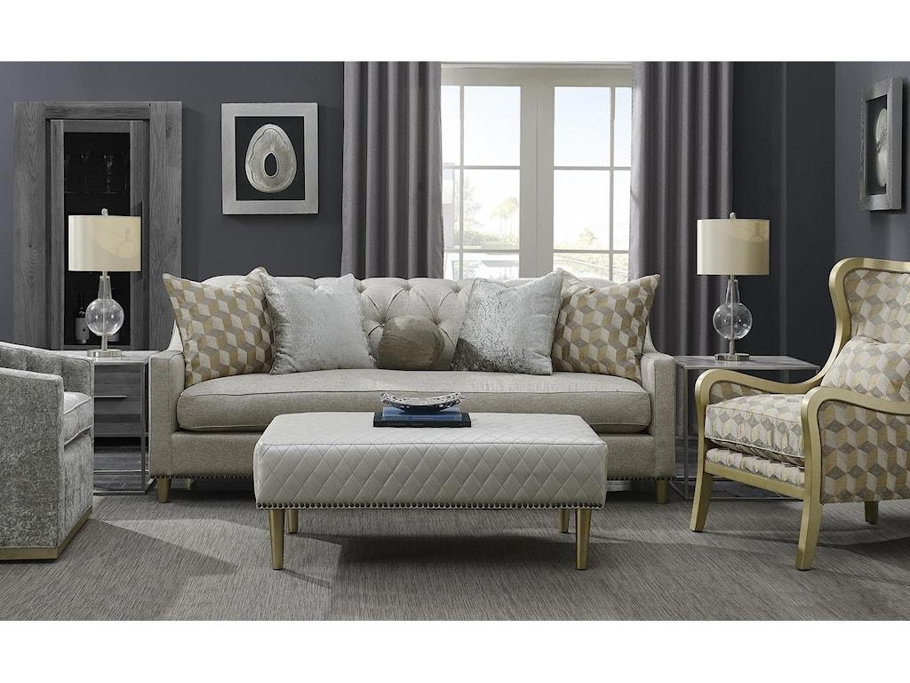 Aria Designs UpholsteryReece Cocktail Ottoman