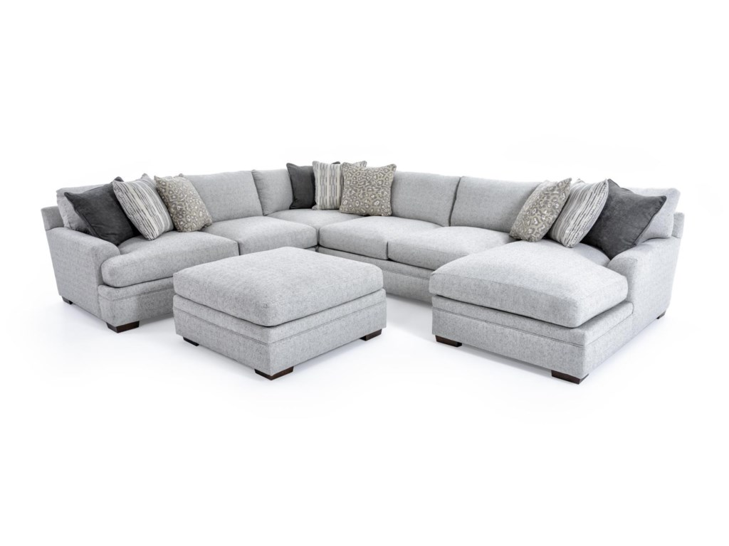 Aria Designs Vance5 Pc Sectional Sofa