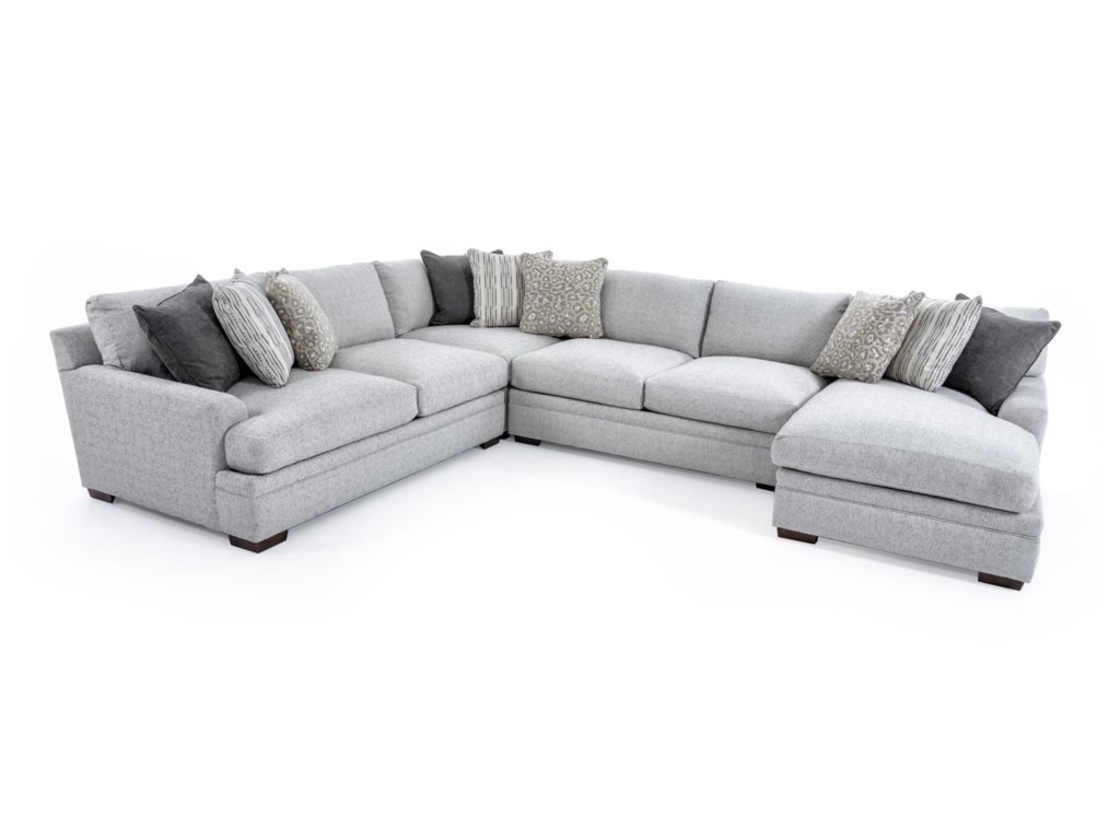 Aria Designs Vance 6033 Sect Casual Four Piece Sectional ...