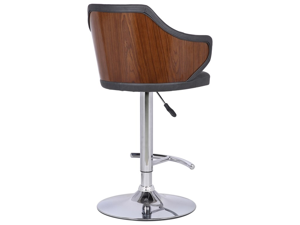 Armen Living AaronMid-Century Adjustable Barstool