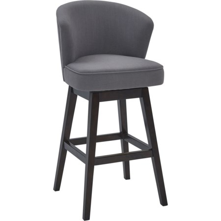 "26"" Counter Height Wood Swivel Barstool"