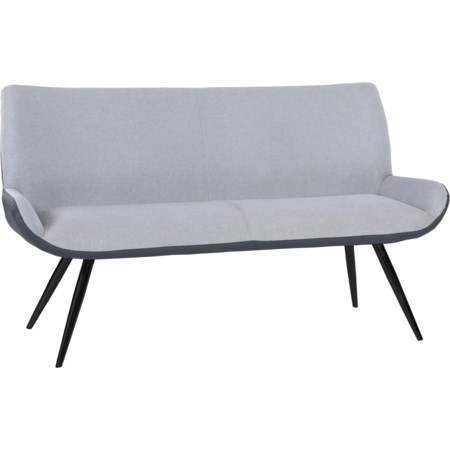 Contemporary Bench in Brushed Gray