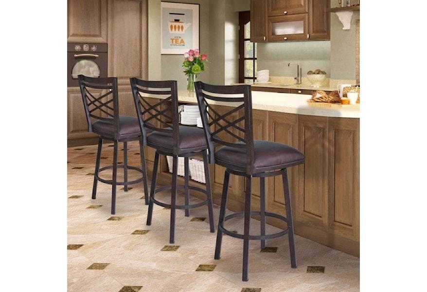 Armen Living Fargo 26 Barstool With Upholstered Seat Darvin Furniture Bar Stools