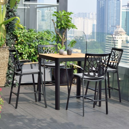 5-Piece Outdoor Patio Bar Set