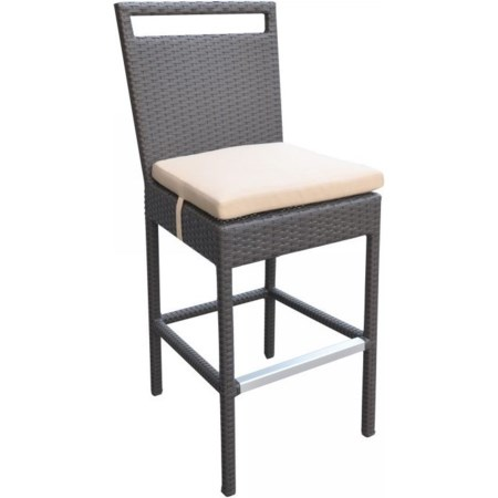 Outdoor Patio Wicker Barstool