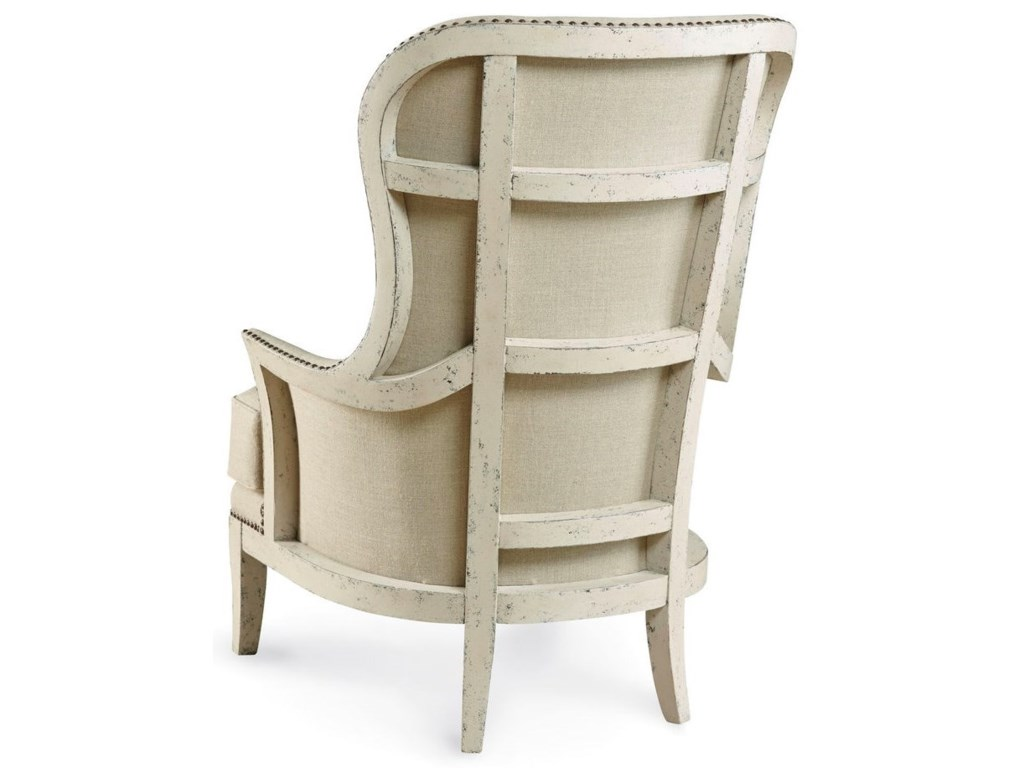 A.R.T. Furniture Inc  Logan Exposed Wood-Back Accent Chair - Canvas
