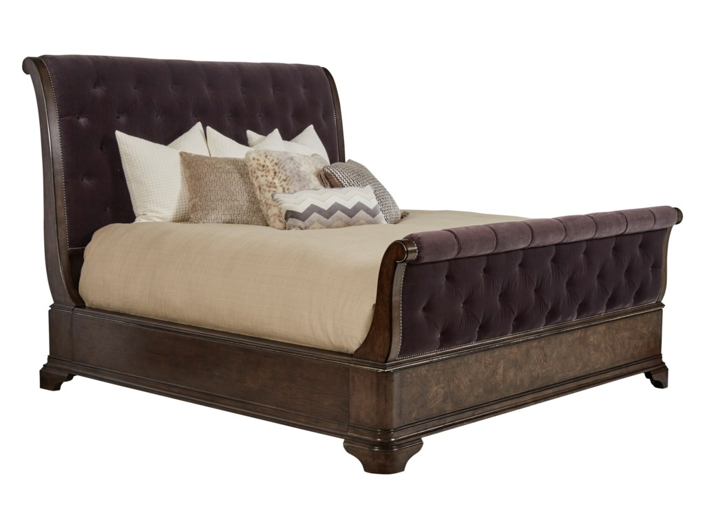 A.R.T. Furniture Inc LandmarkKing Upholstered Sleigh Bed