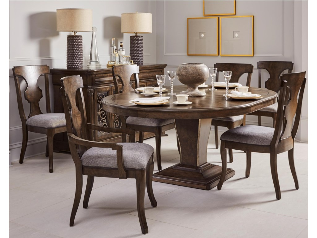 A.R.T. Furniture Inc Landmark7-Piece Oval Table and Chair Set
