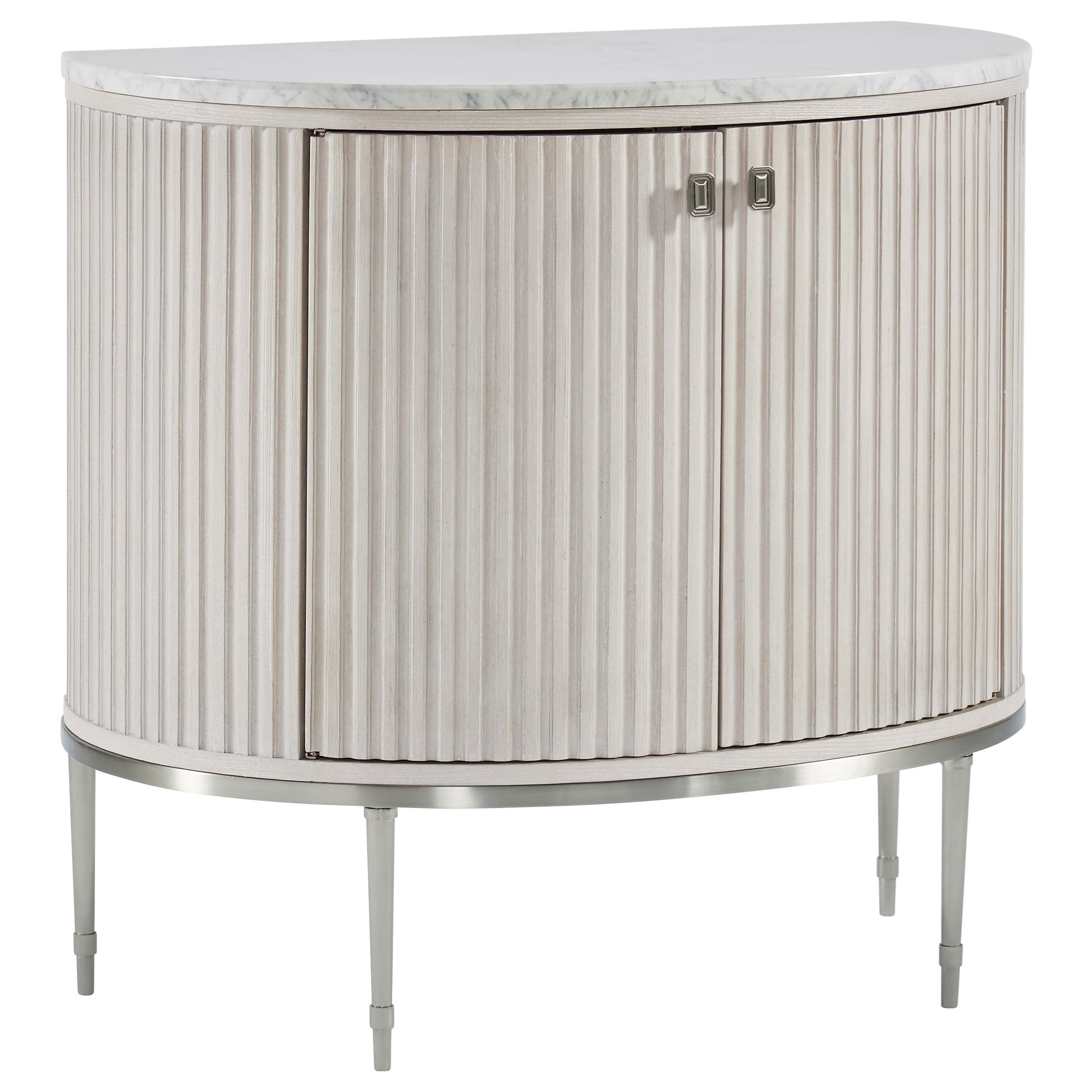 Glam Contemporary Door Chest with Faux Alabaster Top