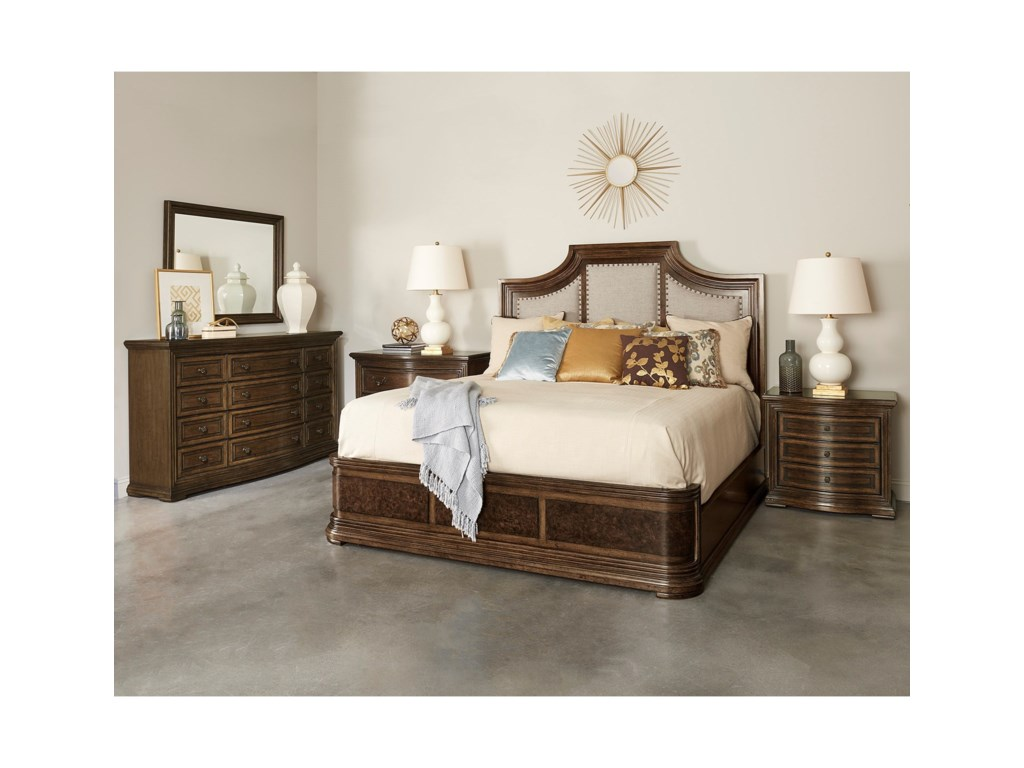 A.R.T. Furniture Inc Kingsport King Upholstered Panel Bed