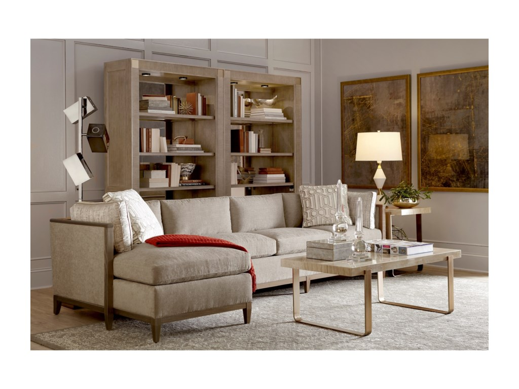 A.R.T. Furniture Inc Cityscapes UpholsteryAstor Crystal RAF Sofa & LAF Chaise