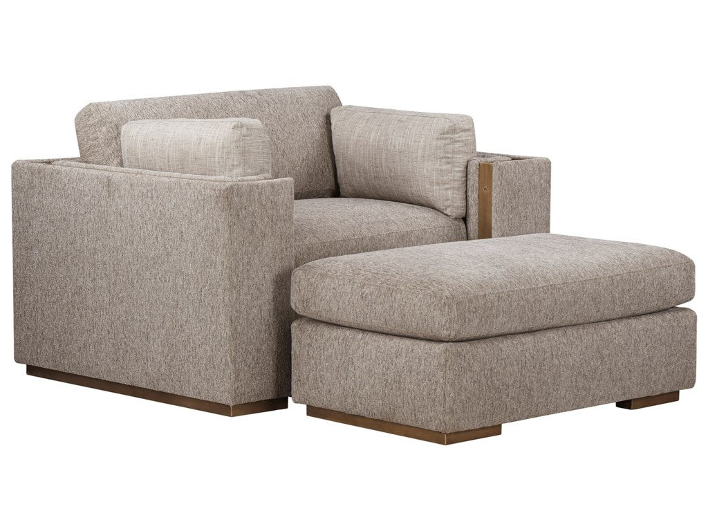 A.R.T. Furniture Inc WoodWright UpholsteryOttoman